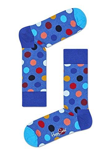 Happy Socks Damen Freizeitsocken Big Dot Sock, Blau (Hellblau 6002), 36-40