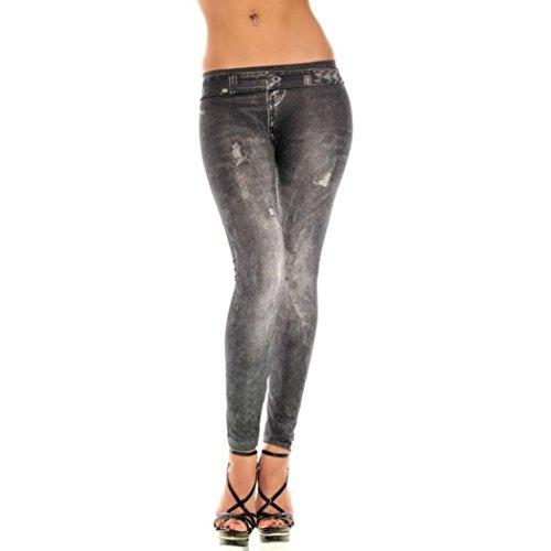 Pantalones Mujer,Jeans rasgados de mujer Jeggings Leggings estrechos de mujer Pantalones pitillo de...