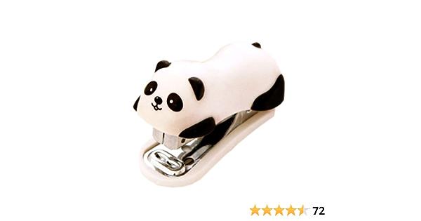 Mini Hefter Set Panda Design 2 St/ücke mit Heftklammern f/ür Schule B/üro Kleine Heftger/äte Kunststoffoberteil S/ü/ßes Design 2 Farben