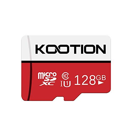 KOOTION Scheda Micro SD 128GB Classe 10 Scheda SD 128 Giga MicroSDXC 128GB Memory SD Card TF Card(A1 e U1) Alta Velocità di Lettura Fino a 100 MB/s, per Telefono, Videocamera, Switch, Gopro, Tablet