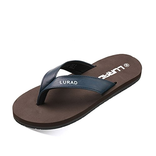 ALUK- Sandales dété - Décontracté Antidérapant Hommes confortables Chaussons résistant à lusure Chaussures de plage ( Couleur : Marron , taille : 42 ) Marron