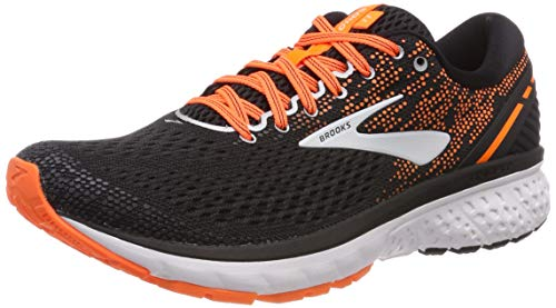 Brooks Ghost 11, Scarpe da Running Uomo, Multicolore (Black/Silver/Orange 093), 44 EU
