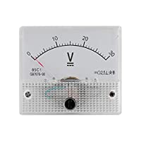 Vbestlife Mini Current Analogue Ammeter Voltmeter,Professional Durable 2.5 Accuracy Voltage Analog Voltmeter Panel Ammeter Current Voltmeter of the CC 85 Analogue Current C1(DC 0-30V)