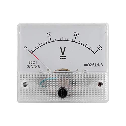 VBESTLIFE Strom Voltmeter Spannung 2.5 Genauigkeit Spannung Analog Voltmeter Panel(Teststrombereich: DC 0-30V) - Dc Analog Voltmeter-panel