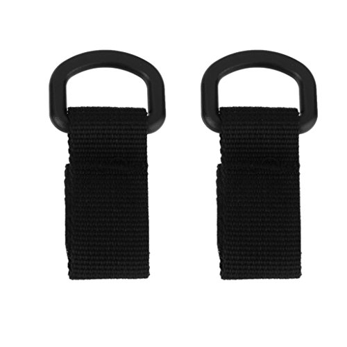 Nylon Molle Tactical Belt Hanging Hook Carabiner Straps Buckle Black