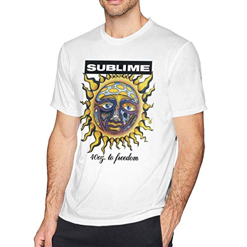 Men's T-Shirt Sublime 40oz to Freedom Graphic Classic Short Sleeve Tee M -
