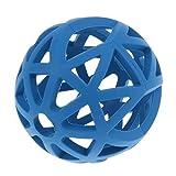 Baoblaze Hund Gitterball Hundespielzeug Vollgummi Spielzeug Kauspielzeug Gummiball für Hunde - Blau - M