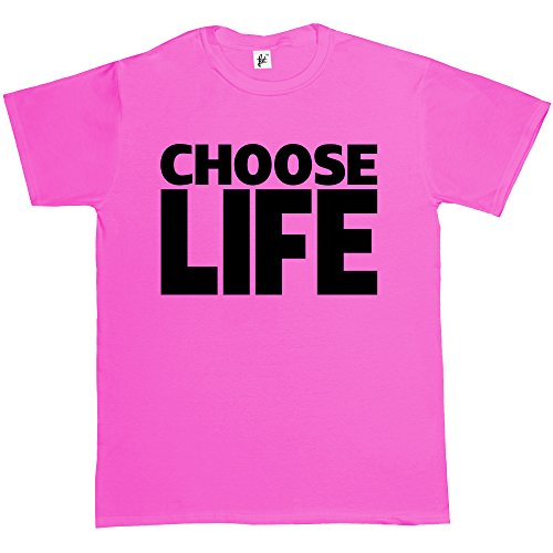 Choose Life Men's Pink T-shirt - Many Colours Available