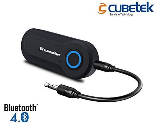 Cubetek CB-BT01 Economy Bluetooth Transmitter V4.0, Wireless 3.5mm Adapter