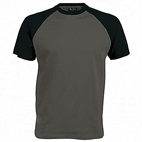 Kariban Mens Short Sleeve Baseball T-Shirt (L) (Slate