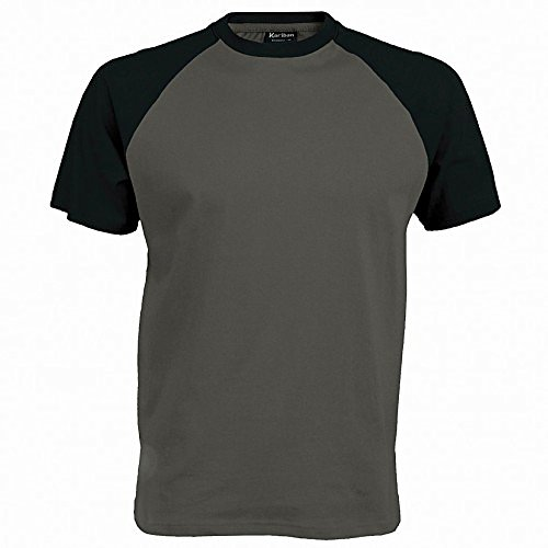 Kariban Herren Baseball T-Shirt Black/Red