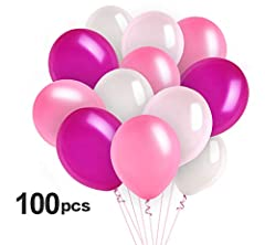Idea Regalo - Absofine 100 pz Palloncini in lattice Palloncino Rosa 12 Pollici 3.2g Palloncini di Latex per Party Compleanni Matrimoni Anniversario Decorazione