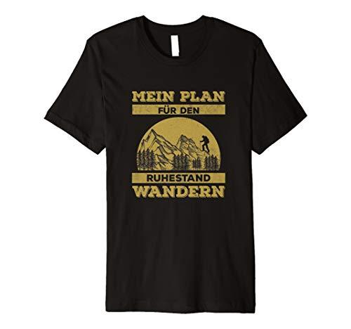 Wandern Ruhestand Berge T-Shirt Bergsteiger Geschenk