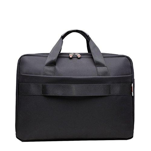 Yy.f Business Casual Laptop-Tasche Schulterdiagonalpaket Aktentasche Feste Farbe Taschen Kühltaschen Praktische Black