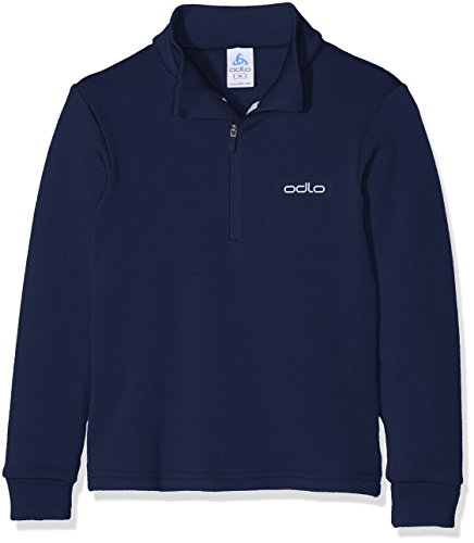 Odlo Kinder Midlayer 1/2 Zip Snowbird Kids Rollkragen M.rv Lg.arm Ki, Peacoat, 128