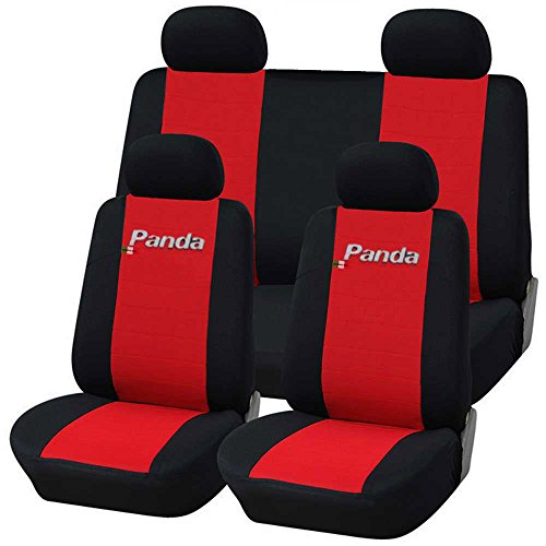 Preisvergleich Produktbild Lupex Shop Panda.014b.Rs-1-3 Fiat New Panda Sitzbezüge - rot  schwarz 1-3