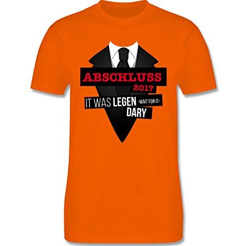 Abi & Abschluss - Abschluss 2017 - It was legen -wait for it- dary - Herren Premium T-Shirt Orange