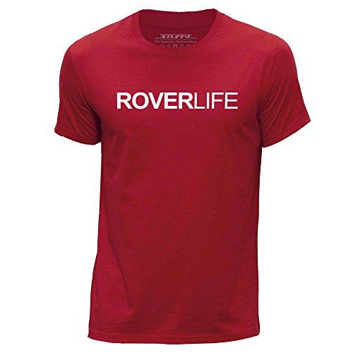 STUFF4 Uomo Girocollo T-Shirt/Coche Vida / Amor Rover Rosso