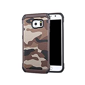 Iphone 6 Plus Case, SWT Newest Fashion Cool Camouflage Design Pc+tpu Dual Layer Hybrid Protected Hard Case Cover Shell for Iphone 6 Plus 5.5 Inch, Ultra Thin Shockproof Case for Iphone 6 Plus 6+ (BROWN)