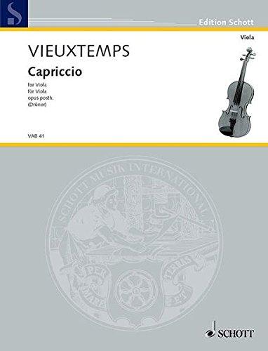 Capriccio Op. Post. (Druener) (Viola Library / Viola-bibliothek) por Henri Vieuxtemps