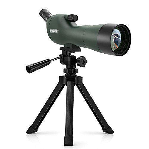 Emarth 20-60x60AE Spektiv Wasserdicht beschlagfrei 45-Grad Abgewinkeltes Okular Spektive mit Stativ, Optik Zoom 39-19m / 1000m für Ziel Schießen Vogelbeobachtung Jagd Wildlife Scenery