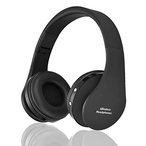 Hykis - Drahtlose Kopfh?rer-Digital-Stereo Bluetooth Headset MP3-Player-Kopfh?rer-Stereo-Musik f¨¹r iOS Android Smartphone Tabellen-Computer [Schwarz] -