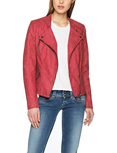 ONLY Damen Jacke Onlava Faux Leather Biker Otw Noos, Rosa (Virtual Pink Virtual Pink), Small (Herstellergröße: 36)