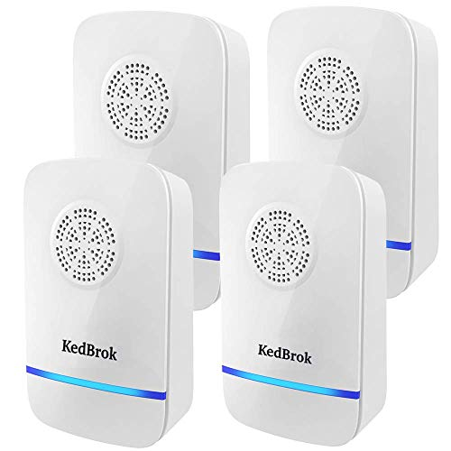 KedBrok Antizanzare Ultrasuoni, 4 Pack Repellente ad Ultrasuoni Anti Zanzare Dispositivi Antizanzare...