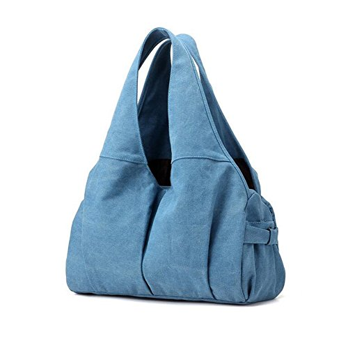Canvas Mode lässig große Kapazität,Angleliu,Damen Wildleder Schultertasch Damen Handtasche Crossbody Bag Mädchen Shoulder bag Messenger Bag Shopper Bag Blau