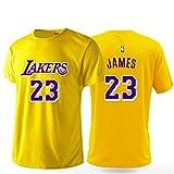 Herren T-Shirt Lakers James # 23 Basketball Kurzarm Kurzarm-Trikot Für Den Europäischen Und Amerikanischen Straßensport