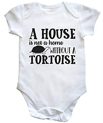 HippoWarehouse A House Is Not A Home Without A Tortoise baby vest boys girls