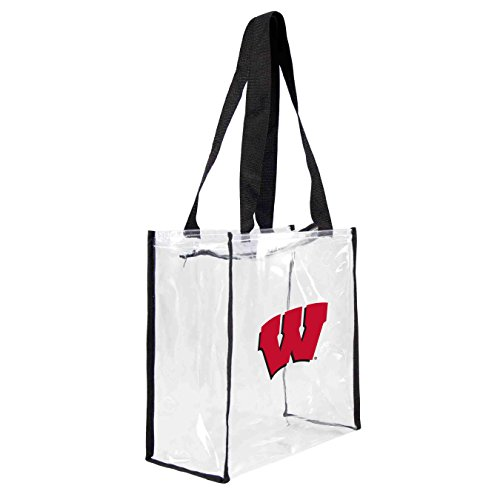 ncaa-wisconsin-badgers-square-stadium-tote-115-x-55-x-115-inch-clear-by-littlearth