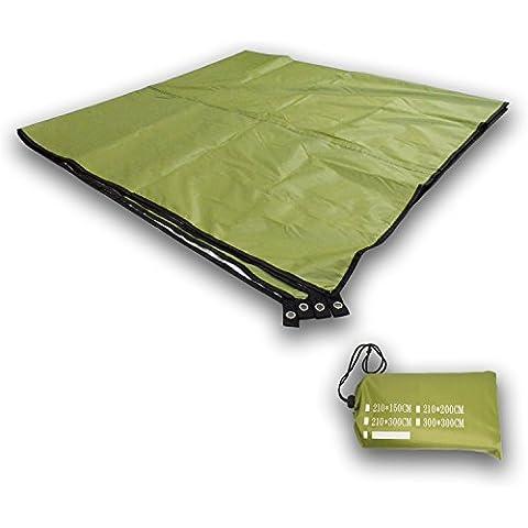 Playa/Picnic manta, YUEDGE impermeable plegable grande al aire libre playa Picnic Mat Manta y utilizar como al aire libre Camping Gear, techo, lona, tienda huella, dormir almohadillas y toldo tienda de campaña para la playa, color L Army Green, tamaño large