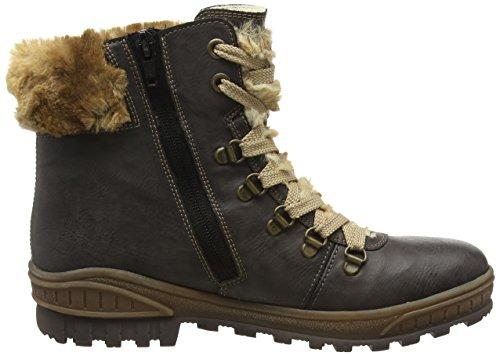 Rieker Mädchen K3691 Combat Boots Grau (fumo/mogano/Braun / 45)