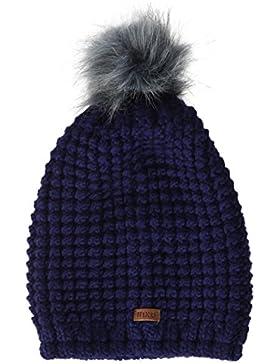 maximo Mädchen Mütze mit Pompon, Vollfutter