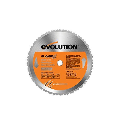 Evolution Power Tools 7–1/10,2 cm Multipurpose Lame de coupe pour acier, RAGE355Blade