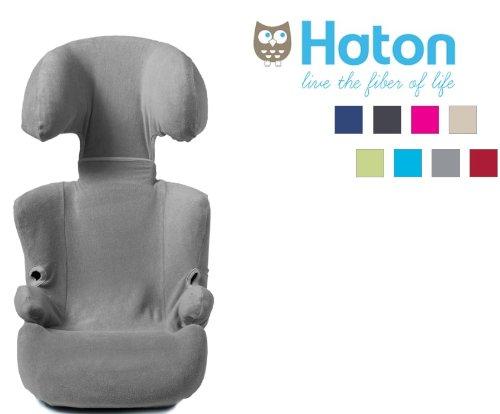 HATON–Tasche für Auto-Kindersitz Gruppe 2/3 Universal für kompatible Sitze der Größe 2/3+ grau