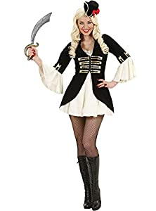 WIDMANN wdm7638C?Disfraz para adulto Capitán Pirata para mujer, blanco, XL