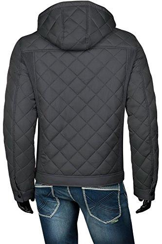 Veste Parka Veste matelassée veste demi-saison slim fit Survêtement à capuche fermeture éclair pour homme Gris - Gris foncé