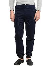 Hypernation Navy Blue Color Trouser for Men