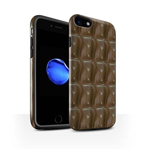 STUFF4 Glanz Harten Stoßfest Hülle / Case für Apple iPhone 7 / Galaxie-Welle Muster / Schokolade Kollektion Galaxie-Welle