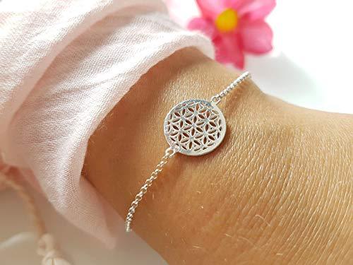 925 Sterling Silber Armkette Lebensblume
