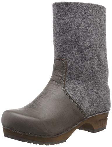 Sanita Damen Wood fele Boot Schlupfstiefel, Grau (Grey 20), 36 EU