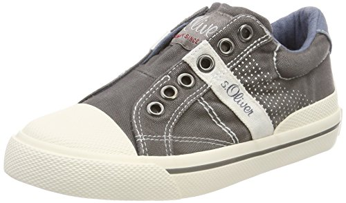 s.Oliver Jungen 44100 Slip On Sneaker, grau (grey), 33 EU -