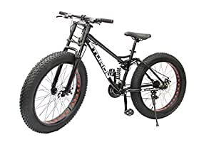 STURDY BIKES Dual Suspension Downhill Fat Mountain Bike (Black)