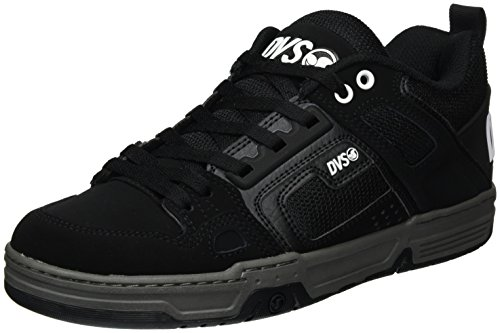 DVS Apparel Comanche, Men's Skateboarding Shoes, Black (Black Black Leather Nubuck), 10 UK (45 EU)