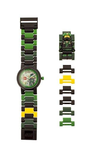 LEGO Ninjago Movie 8021100 Orologio da polso componibile per bambini con cinturino a maglie e minifigure Lloyd
