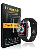 UniqueMe kompatibel für Apple Watch Schutzfolie 42 mm (kompatibel mit Series 3/2/1) [6 Pack] [Blasenfreie] HD Clear Flexible Folie mit Lebenslange ersatz garantie