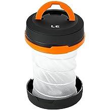 LE Farol de camping LED plegable, 3 modos de luz, Alta autonomía, Resistencia al agua IPX4 (Blanco frío)