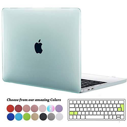 TECOOL MacBook Pro 15 Hülle 2019 2018 2017 2016 Case, Plastik Hartschale Schutzhülle mit Transparent EU Tastaturschutz für Apple MacBook Pro 15 Zoll mit Touch Bar Modell: A1990/ A1707 -Minz Grün - Retina Pro Macbook 15 Klar Das Case